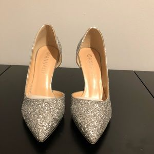 Shoes - Silver High Heels - NEVER WORN